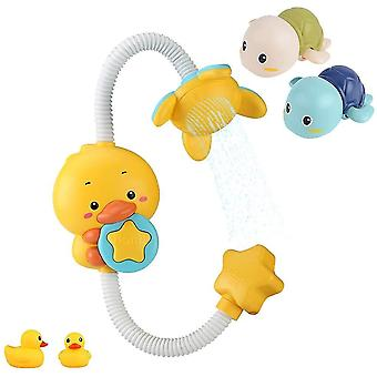 Vauvan kylpylelut, Vedessä leikkivät vauvalapset, Sähkökylpyhuone, suihkusuihku (GROUP2)