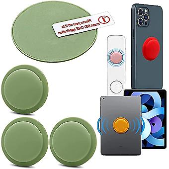3 Pack Location Tracker Case Adhesive Protective Cover For Apple Airtag(Green)