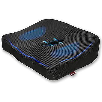 BEOBEU Sitzkissen 100 % reiner Memory-Schaum, belüftet ergonomische Design Kissen Coccyx, lindert