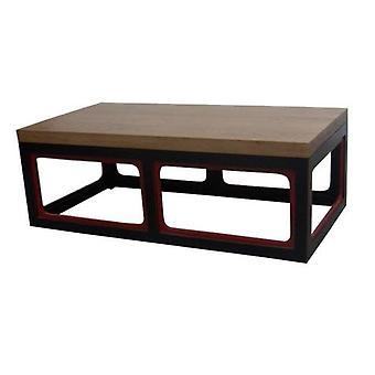 Hieno aasialainen kielinen kiinalainen sohvapöytä massiivipuu musta & viini punainen W130xD65xH45cm