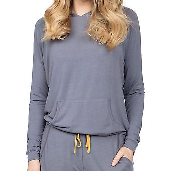 Cyberjammies Rachel 4888 Gris Femme Modal Capuche Pyjama Haut