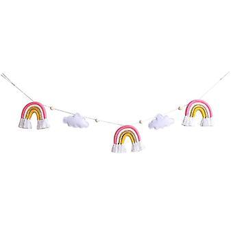 Baby Wool Felt Clouds Tähdet rakastavat vastasyntyneiden valokuvaus rekvisiittaa