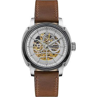 إنجزول I09902 مدير التلقائي براون حزام ساعة اليد