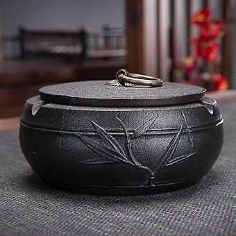 Ceramic Ashtray Smokeless Ashtray With Lid  Ashtray For Home Decor Creative Smoking Accessories