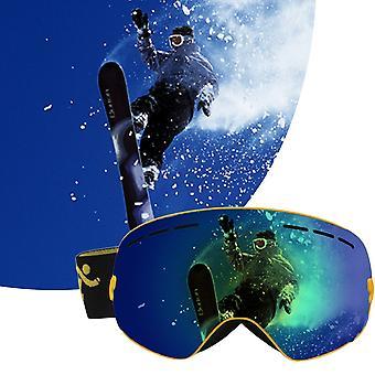 كوبوز نظارات التزلج طبقات مزدوجة لمكافحة الضباب الكبار نظارات التزلج على الجليد