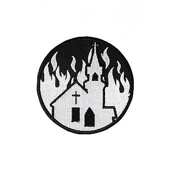 Extreme Largeness Burning Church Iron-On Patch