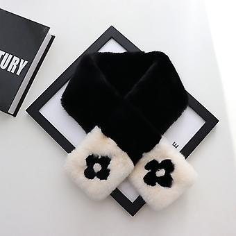 Plüss sál nyak vállrándítás őszi téli kabát ruhákkarfiol a fekete