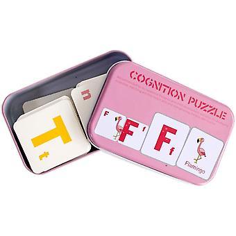 Alfabet Dier Matching Flash Cards Houten Blok Puzzel Montessori Speelgoed