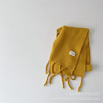 Solid Color Tassel Cashmere Knitted Winter All-match For Boys And Girls Baby Warm Soft Wool Necklaces