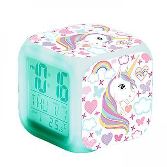Touch  Girls Alarm Clocks, Unicorn Night Light Kids Alarm Clocks With 3 Sided Unicorn  Kinds Of Led Glowing Wake Up Bedside Clock Gifts #7