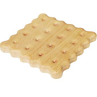 Creative Biscuit Wooden Coaster Made Of Beech Or Black Walnut, Pack Of 2 Or 4