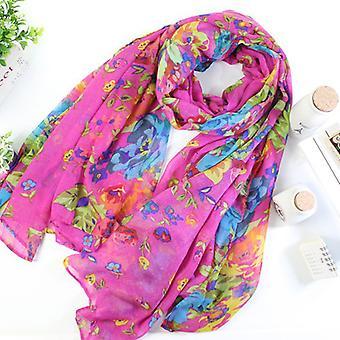 Womens Ladies Warm Wrap Scarves Floral Print Beach Casual Shawl Scraf