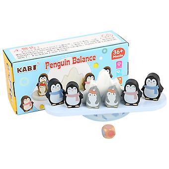 Barn Tidlig Pedagogisk Leketøy Søt Pingvin Balansering Blokker Spill