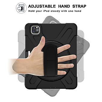 360 Degree Rotating Bracket Hand Strap + Pen Slot + Shoulder Strap, Tablet Protective Cover Ipad Pro 11 2018, Ipad Pro 11 2020 Protective Shell, Full