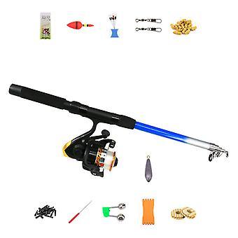 Fishing Rod Set Portable Accessory Bag Beginner Retractable,plastic Wheel