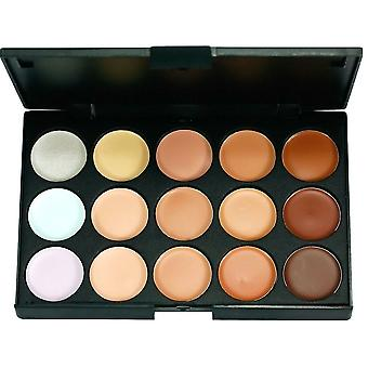 Boolavard® TM 15 Beautiful Color Palette Concealer Concealer Camouflage Eyeshadow with 7pcs Make Up Brush