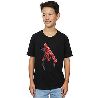 Marvel Boys Deadpool Hang Split T-Shirt
