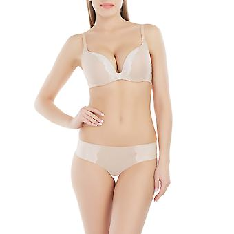 Marc and Andre S7-0244 Women's Seamless Nude Beige Underwired Plunge Bra