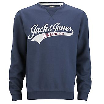 Jack and Jones Access Crew EXP 13 Track & Field Navy Blue Jumper