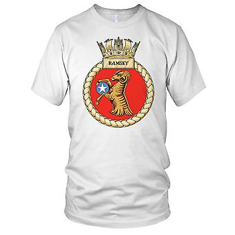Royal Navy HMS Ramsey Kids T skjorte