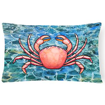 Carolines Treasures  BB5346PW1216 Crab Canvas Fabric Decorative Pillow