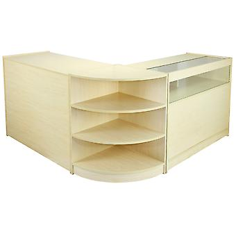 Shop Counters Retail Storage Maple Display Cabinet Glass Showcase Shelves Zenith