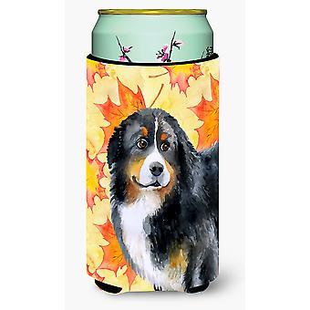 Bernese Mountain Dog Fall Tall Boy Beverage Insulator Hugger