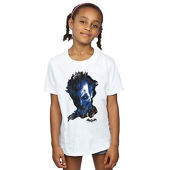 DC Comics niñas Batman Arkham Asylum Joker cara angustia t-shirt