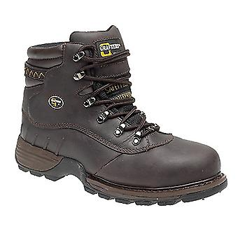 Grafters Mens Safety Hiker Type Toe Cap Waxy Leather Boots
