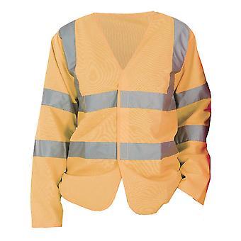 Yoko Mens Hi-Vis Long Sleeve Waistcoat / Jacket