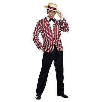 Good Time Charlie 1920s Boss Blazer Henley Boater Club Blazer Men Costume