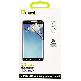 Muvit Samsung Galaxy touch 4 scherm beschermer 2 x glossy AF