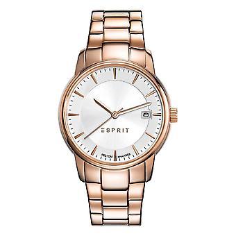 ESPRIT horloge armband dameshorloge Victoria RVS Rosé ES108382002