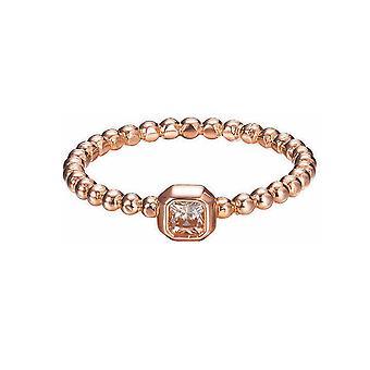 ESPRIT women's ring silver Rosé rectangle cut ESRG92826C1