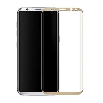 Samsung Galaxy S8 G950 G950F için Premium 0.3mm Kavisli Temperli Cam Altın Folyo