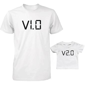 V1.0 and V2.0 Dad and Baby Matching T-Shirts