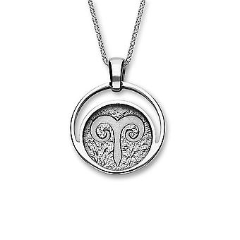Sterling Silver Traditional Scottish Zodiac Aries Hand Crafted Necklace Pendant