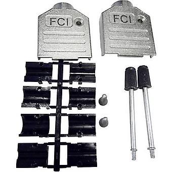 FCI D-SUB D-SUB Gehäuse Anzahl der Stifte: 9 Diecast Zink 180 ° Silber 1 Stk.