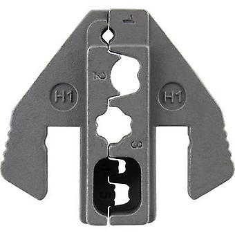 TOOLCRAFT PLE-0H1 Brocas de prensado Zócalos de bujía Zona de crimpado: 1 mm2 (máx.) Adecuado para la marca: TOOLCRAFT PZ-500