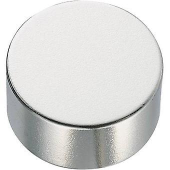 Conrad Components 506102 Kestomagneetti Pyöreä (Ø x K) 2 mm x 10 mm N35 1,18 - 1,24 T Lämpötilaraja (maks.): 80 °C