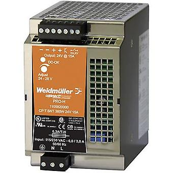 A binario PSU (DIN) Weidmüller CP T SNT 360W 24V 15A 28 Vdc 15 A 360 W 1 x