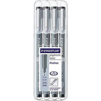 Staedtler 308 WP4 308 WP4 Fineliner 6 uds/pack Negro 0,1 mm, 0,3 mm, 0,5 mm, 0,7 mm 1 ud(s)