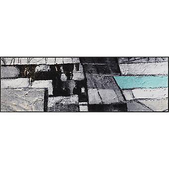 wash+dry Fußmatte Lebenswege 60 x 180 cm waschbare Fußmatte