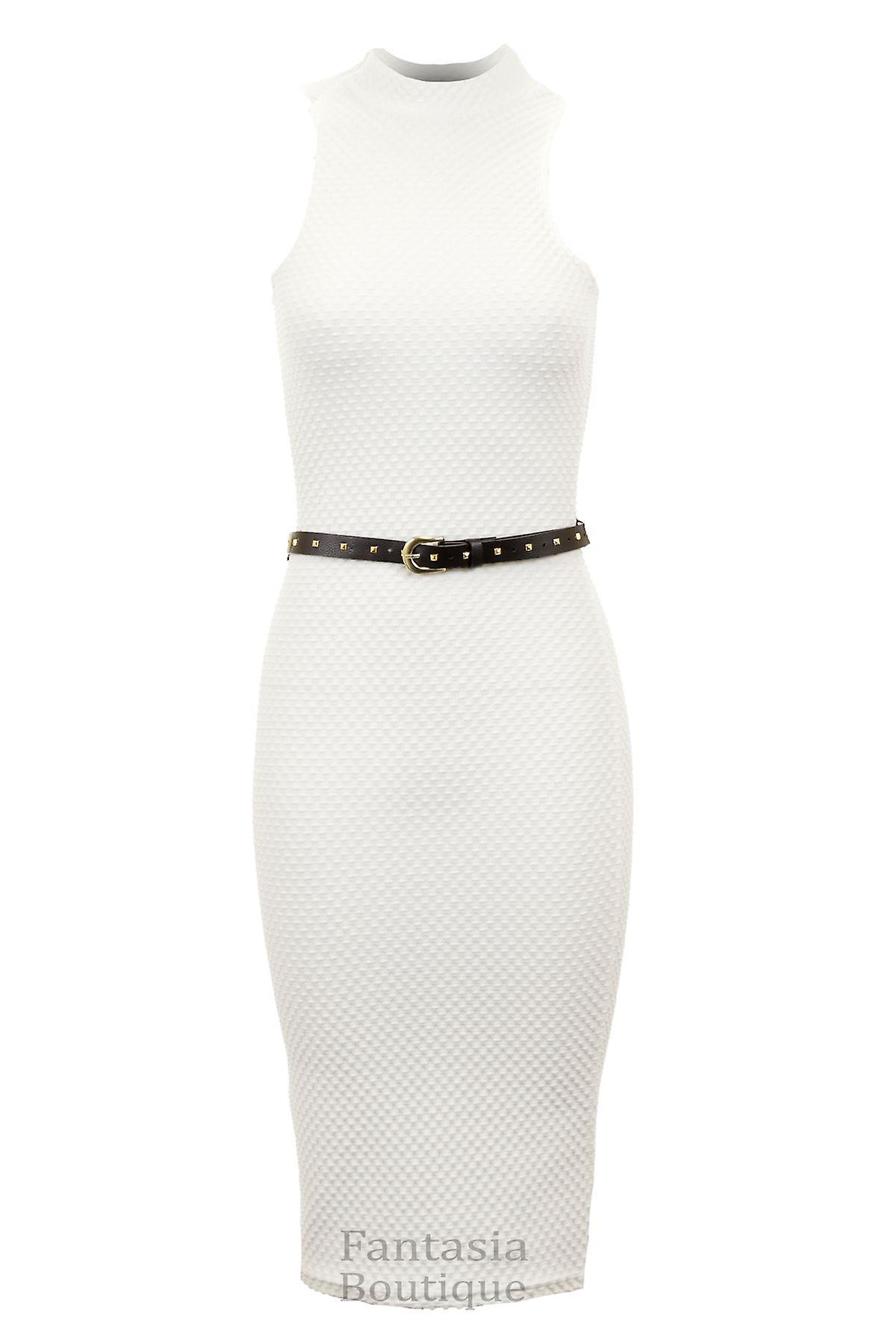 Ladies Sleevless Black Shiny Beaded Open Neck Short Bodycon Women's Dress