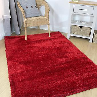 Dywany Shaggy Velvet w kolorze czerwonym