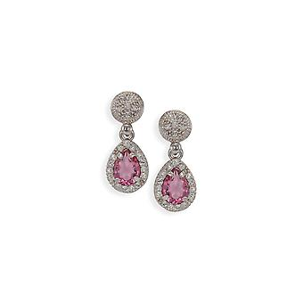 Pink earrings with crystals from Swarovski 4798