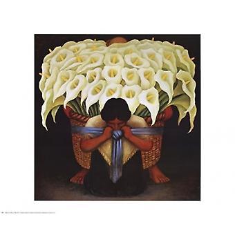 El Vendedor De Alcatraces Poster Print by Diego Rivera (27 x 22)