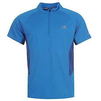 Karrimor Mens Zipped Short Sleeved T Shirt High Collar Breathable Running Top