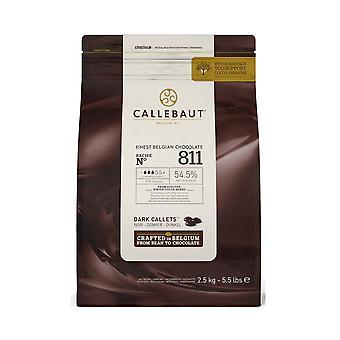 Callebaut 54% Bitter Sweet Dark Chocolate '811' Callets