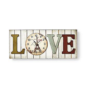 Framed Wall Clock-LOVE-design